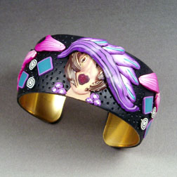 Purple woman cuff bracelet