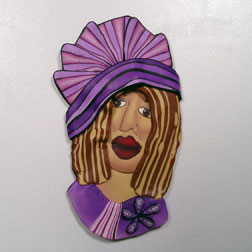 Purple Woman Pin