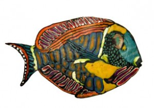 Adrienne Lindsey's Fish Mosaic