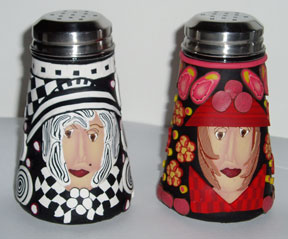 Girls - Polymer Clay Salt and Pepper Shakers