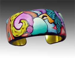 Polymer Clay Mosaic Bracelet