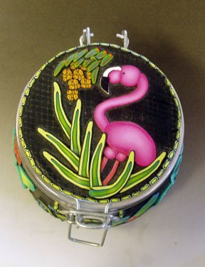 Polymer Clay Flamingo Top