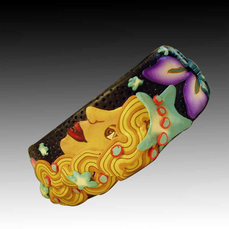 Polymer Clay Mermaid Cuff Bracelet
