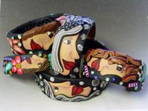 Polymer Clay Face Bracelets