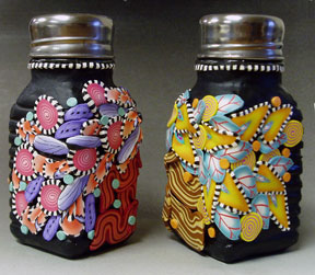 Two Girls Salt and Pepper Shakers Back