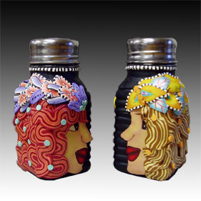 Two Girls Salt and Pepper Shakers