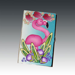 Flamingo Business Card Holder