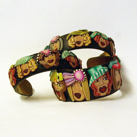 Lot of Girls - Polymer Clay Bracelet
