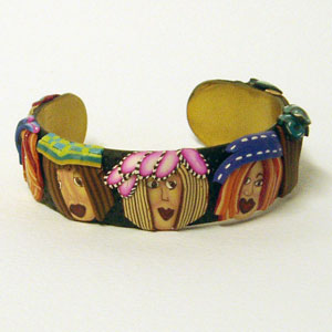 Girl Night Out - Polymer Clay Bracelet