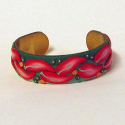 Coral Leaf Cane Bracelet