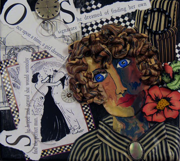 Polymer Clay Face Cane and Altered Art - Alice Stroppel