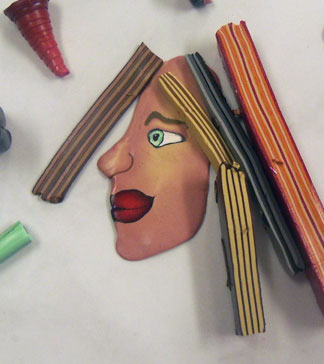 Polymer Clay Profile Face Cane - Alice Stroppel