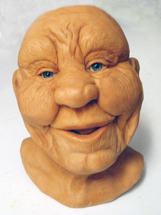 Polymer Clay Head - Alice Stroppel