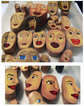 Alice Stroppel's  - Polymer Clay Face Canes