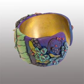 Sonia side1 - polymer clay bracelet - Alice Stroppel