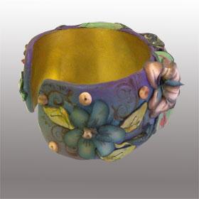 Sonia side2 - polymer clay bracelet - Alice Stroppel