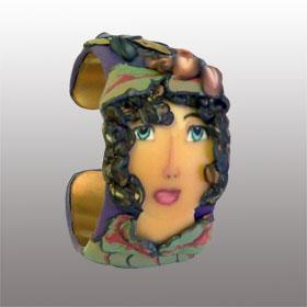 Sonia - polymer clay bracelet - Alice Stroppel