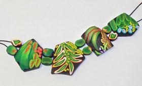 Tropical Leaves Bracelet #2