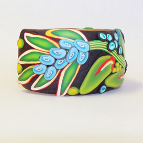Tropical Leaves Cane Bracelet