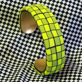 Lime Green Cuff Bracelet