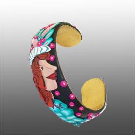 Profile Face Cane - Cuff Bracelet