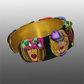 Girlfriends Galore 5 - Polymer Clay Cuff