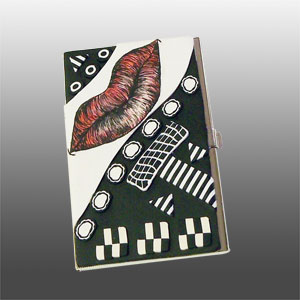 #2 Pen and Ink Lips Business Card Case