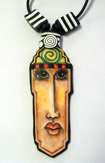 face pendant - alice stoppel