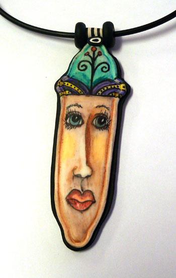 face pendant - alice stroppel