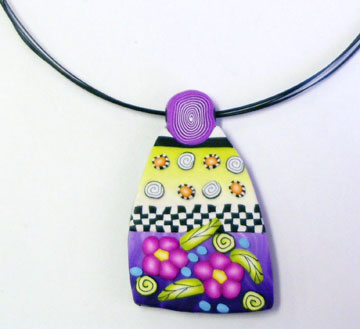 Class pendant - polymer clay