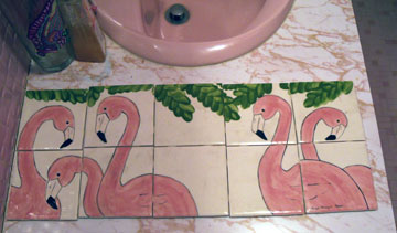 flamingo tiles