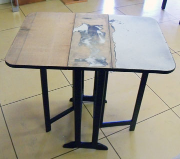 Gate-leg Table ready for polymer clay