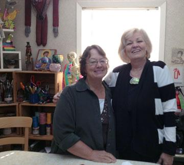 Maureen Carlson and Alice Stroppel 9-2012