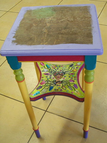 Table with polymer