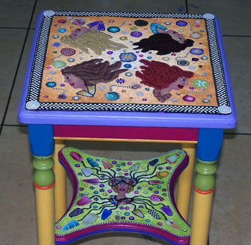 polymer clay table top - Alice Stroppel