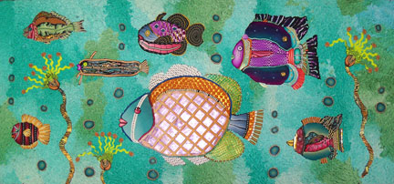 fish - Polymer Clay Painting - Alice Stroppel