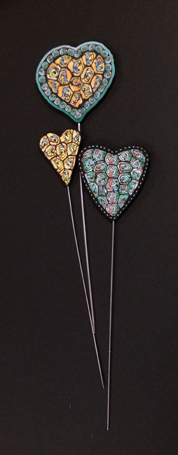 Polymer clay Heart Sticks - Alice Stroppel