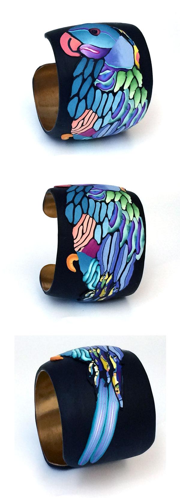blue parrot bracelet- Alice Stroppel