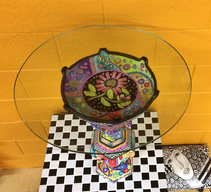 Alice Stroppel polymer clay table