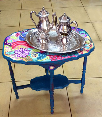 Alice Stroppel tea  set and table