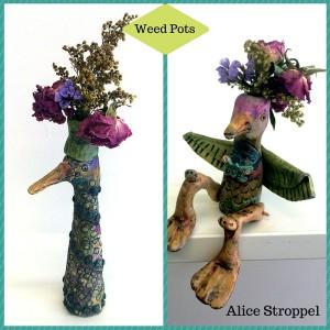 Alice Stroppel bird weed pots