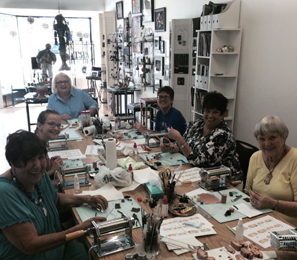 Polymer clay face cane studio215--9-3-15