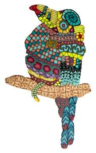 Cane mapped bird Alice Stroppel