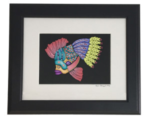 framed cane mapped Fish - Alice Stroppel