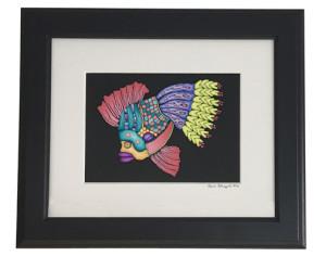 framed cane mapped Fish - Alice Stroppel